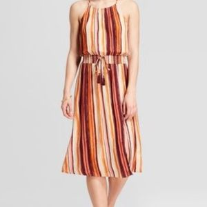 NWT Xhilaration Striped Midi Dress Size Large